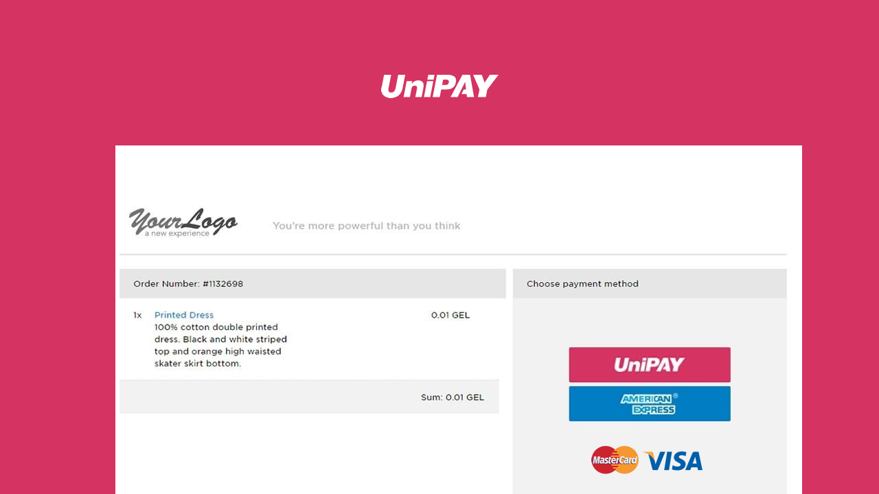 UniPAY payment gateway | Apps Marketplace | osCommerce