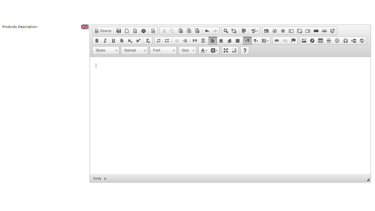 CKEditor Text Editor v2 3 4 1 CE | Apps Marketplace | osCommerce